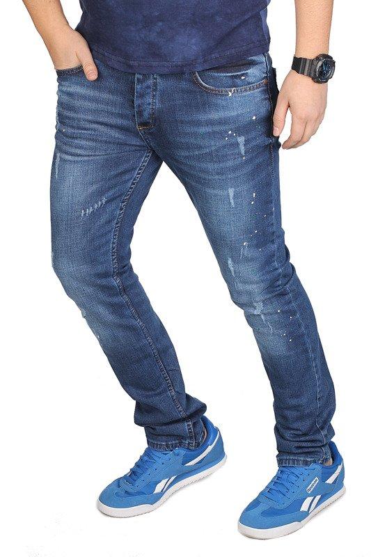 Spodnie Jeansowe Męskie od Neidio J10 Niebieski 4